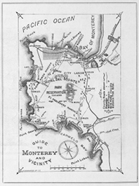1889 Hotel Del Monte Souvenir Book Map